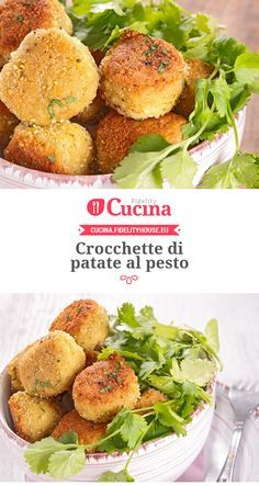 Crocchette di #patate al #pesto