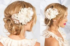 wedding hair with flower - Google Search