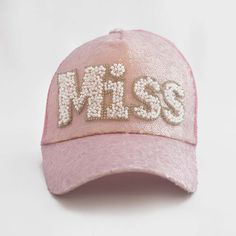 The Little Miss Sequin Princess Trucker Cap Modern Princess, Little Miss, Pearl Beads, Pink Color, Sale Items, Pink Girl, Complete Outfits, Pretty In Pink, Baseball Hats