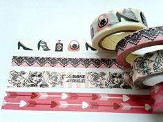 28  Washi Tape Samples  PINK  28 inch 71 cm by BookfellStudio