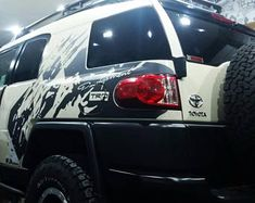 Mud splash imitation TRD Racing side vinyl decal sticker fits to Toyota fj cruiser