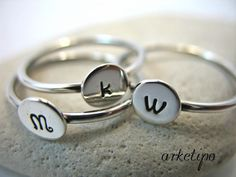 Personalized Handmade Ring of sterling silver choose by Arketipo