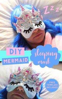 DIY Mermaid Sleeping Mask