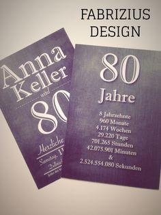 Einladung zum 80 Geburtstag. Birthday Cards, Happy Birthday, Diy Cards, Congratulations, Stampin Up, Typography, Crafty, Holiday, Prints