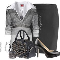 , created by arjanadesign Office Fashion, Business Fashion, Work Fashion, Business Attire, Business Casual, Classy Outfits, Chic Outfits, Fashion Outfits, Womens Fashion
