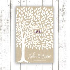 Guest Book Tree Wedding Guest Book Poster by MooseberryPaperCo