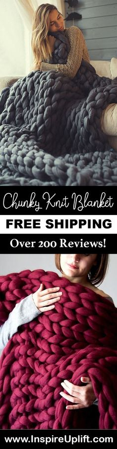 Never feel a shiver run down your spine this winter or in the coming ones with this chunky knit blanket. Chunky Crochet Blanket Pattern Free, Chunky Blanket, Knitting Patterns, Crochet Patterns, Knitted Blankets, Baby Knitting, Fails, Cowgirl Jeans, Vancouver Washington