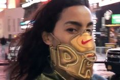 Adrianne Ho Flaunts Her Custom Supreme x Nike Air More Uptempo Face Mask