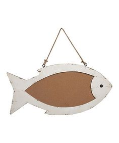 Another great find on #zulily! Wooden Fish Cork Board #zulilyfinds