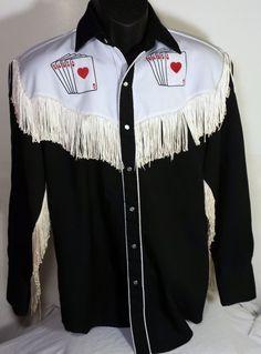 Vintage Western Caravan Mens Medium Shirt Cowboy Pearl Snap Rockabilly Rodeo #WesternCaravan #Western