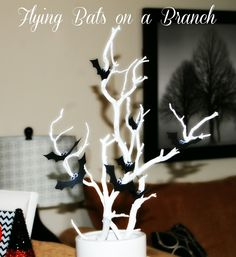 Detail-Oriented Diva!: Flying Bats on a Branch