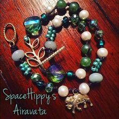 LuckyRaps(TM) Airavata double wrap bracelet by SpaceHippy(TM)