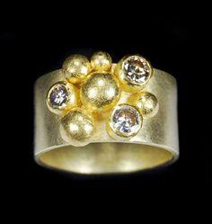 Petra Class ~ 22k and 18k Gold ~ 0.75ct Brown Diamonds
