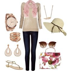 spring, created by #kristafliss on polyvore.com