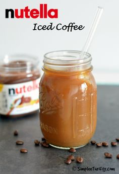 Calling all Nutella and Coffee fans! We have a recipe for you to try Nutella Iced Coffee. I'm am a big iced coffee fan especially during the summer!