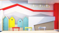 Διακόσμηση παιδιατρείου Σχεδιασμός - Διακόσμηση - Ανακαίνιση ιατρείων   Εξοπλισμός και επίπλωση ιατρείου και φαρμακείων   Design ιατρείων Toddler Bed, Furniture, Home Decor, Child Bed, Interior Design, Home Interior Design, Arredamento, Home Decoration, Decoration Home