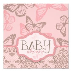 Butterfly Kisses Petal Invitation Square