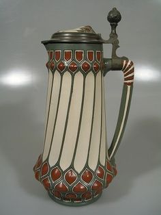 Mettlach Art Nouveau Pitcher by echkbet