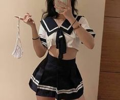 Edgy Outfits, Girl Outfits, Cute Outfits, Fashion Outfits, Mode Kawaii, Anime Inspired Outfits, Maid Cosplay, Maid Outfit, School Girl Outfit