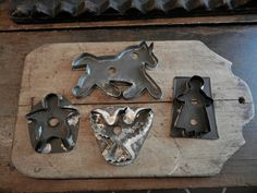 old soldered tin cookie cutters