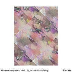 Abstract Purple Leaf Home Decor