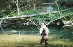 Me (Brian Booth) fly fishing. Great Smoky Mountains. Awesome trout fishing.