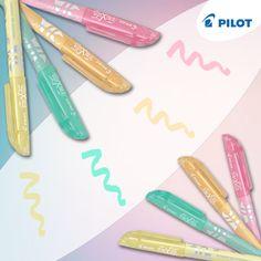 Jemné pastelové odstíny zvýrazňovačů Pilot Frixion Light Soft sluší nejen romantickým duším, ale i všem poctivým studentům