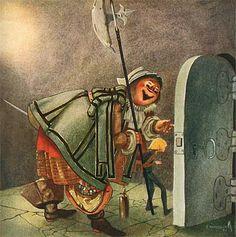 "Illustration by Einar Norelius from ""Bland Tomtar och Troll"" Swedish American, Anton Pieck, Make Believe, Vintage Children, Troll, Illustrators, Fairy Tales, Community, Animation"