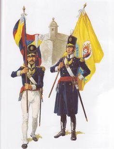 Portuguese Infantry standard bearers 1810-12