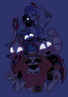Fnaf 5, Anime Fnaf, Fnaf Drawings, Cute Drawings, Fnaf Baby, Freddy 's, Fnaf Sister Location, Circus Baby, Tumblr