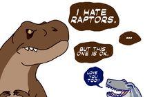 Dude, she saved your life! Be grateful Jurassic Park Funny, Jurassic World Dinosaurs, Jurassic Park World, Dinosaur Drawing, Dinosaur Art, Cute Dinosaur, Blue Drawings, Dinosaur Illustration, Indominus Rex