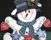 Dreamin of a White Christmas Snowman - Christmas Decoration - Christmas Sign