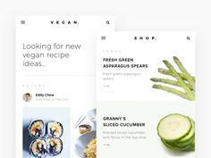 Vegan Recipe App Concept by Calvin Smith