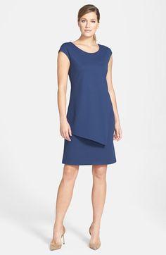 Lafayette 148 New York Cap Sleeve Punto Milano Sheath Dress (Regular & Petite) available at #Nordstrom
