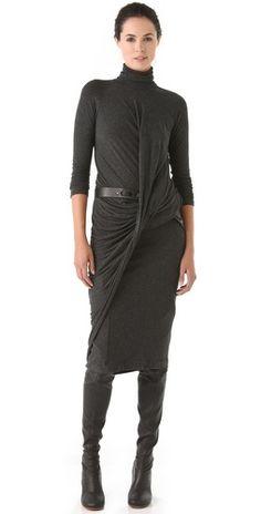 Donna Karan New York Twist Drape Dress