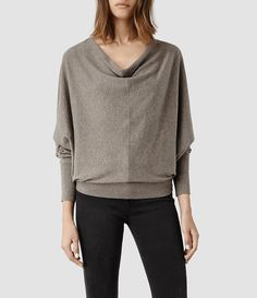 Womens Elgar Cowl Neck Sweater (RUM RED MARL) - product_image_alt_text_1
