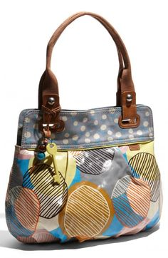 Fossil Key Per Printed Coated Canvas Shopper