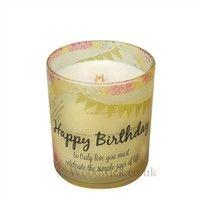WoodWick Inspirational Hourglass-Happy Birthday