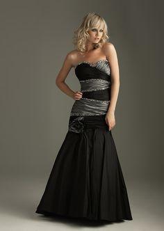 Buy Vogue Black Charcoal Crossed Ruffle Sweetheart Neckline Flower Floor Length Original Evening Dress Online Cheap Prices