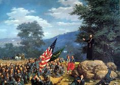 1863 - Absolution Under Fire - Father Corby Blesses the Irish Brigade at Gettysburg, July 2