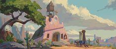 Church in the Wild West, Harrison yinfaowei on ArtStation at https://www.artstation.com/artwork/bLDPa