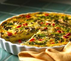 Spinach & Mushroom Quiche | #glutenfree