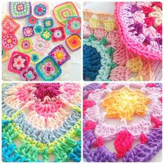 I just love all these colors!!! I so want to make a granny square blanket. Project for next winter?