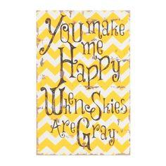 You Make Me Happy Plaque | Kirklands