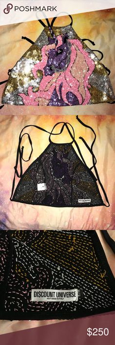 Di$count Universe Unicorn halter Bait for my Discount Universe ISO's. Size S/M. Worn once & sold out. Discount Universe Tops