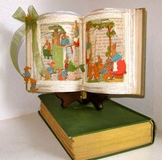 Altered book Fairy tale Peter Rabbit 1921 Antique book altered popup style