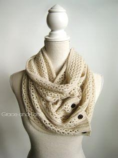 Nellie Knit Scarf  OAT  open weave knit scarf by GraceandLaceCo, $38.00