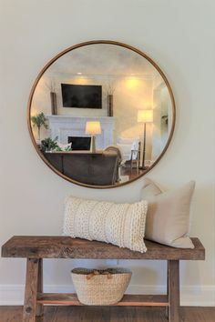 Entryway Bench This custom built entry way bench creates a nice place to take on and off shoes as you exit. Decor, Interior, Hall Decor, Home Remodeling, Living Room Decor, Home Decor, House Interior, Apartment Decor, Home Decor Signs