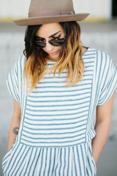 Stripes and hat