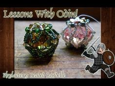 Lessons With Odin: Beaded Crystal Rondelle Jewelry Tutorial